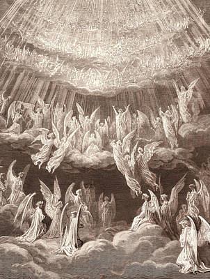 The Heavenly Choir, By Gustave DorÉ. Gustave Dore Poster by Litz Collection