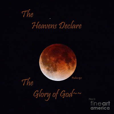 The Heavens Declare Poster by Nava Thompson