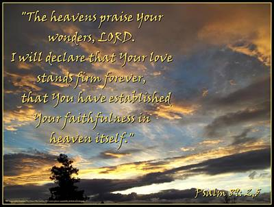 The Heavens Praise Poster by Glenn McCarthy Art and Photography