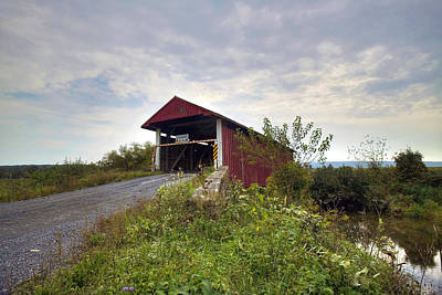 Poster featuring the photograph The Historic Hayes Covered Bridge by Gene Walls