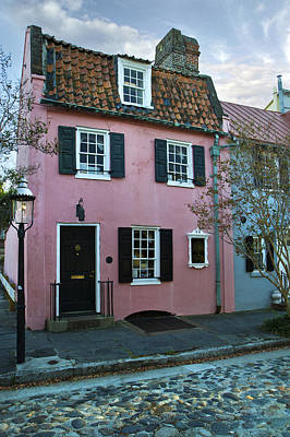 The Historic Pink House In Charleston 1690 Poster by Pierre Leclerc Photography
