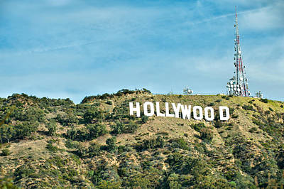 The Hollywood Sign Poster by Gregory Ballos