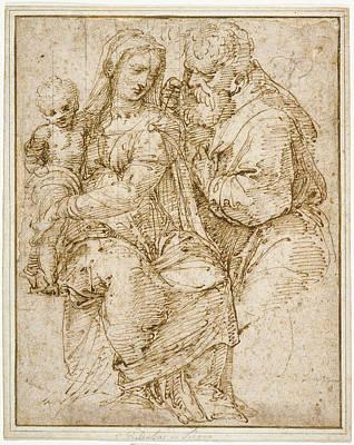 The Holy Family Baldassare Peruzzi, Italian Poster by Litz Collection