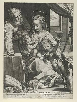 The Holy Family Poster by Cornelis Cort