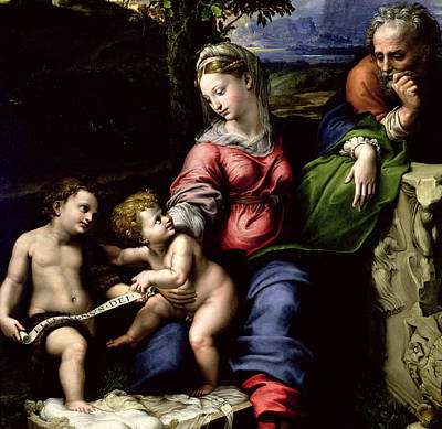 The Holy Family Of The Oak Tree, Circa 1518 Poster