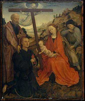 The Holy Family With Saint Paul Poster by Style of Rogier van der Weyden