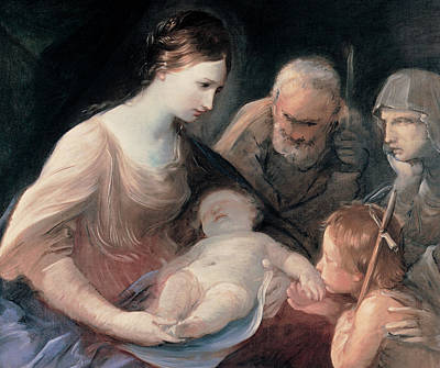 The Holy Family With St Elizabeth And St John The Baptist Poster by Guido Reni