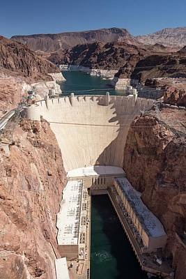 The Hoover Dam And Lake Mead Poster by Ashley Cooper