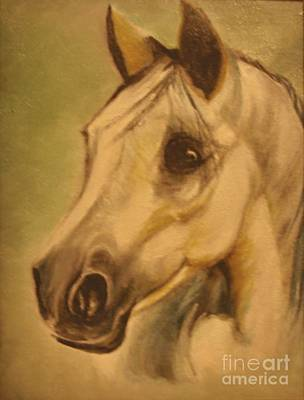 Poster featuring the painting The Horse by Sorin Apostolescu