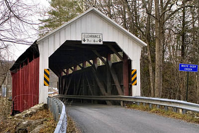 Poster featuring the photograph The Horsham Covered Bridge by Gene Walls