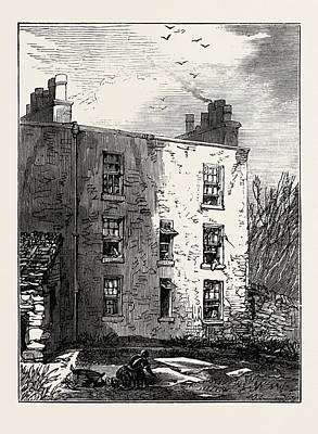 The House In Which Livingstone Was Born, Blantyre Poster by English School