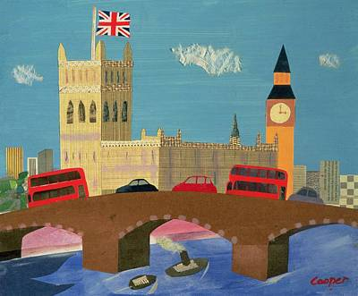 The Houses Of Parliament Collage Poster by William Cooper