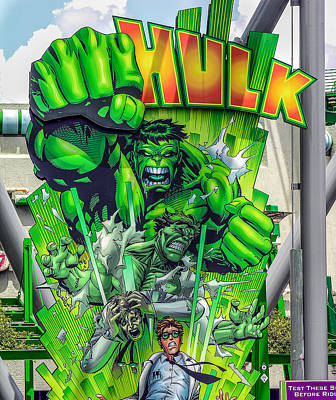 The Hulk Poster by Charles A LaMatto