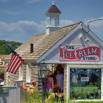 The Ice Cream Store Poster by Joann Vitali