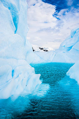 The Iceberg Lagoon - Antarctica Iceberg Photograph Poster by Duane Miller