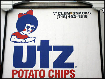 The Iconic Utz Sign Close-up Poster