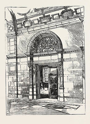 The Imperial Institute, London, Doorway In Corridor Poster by English School