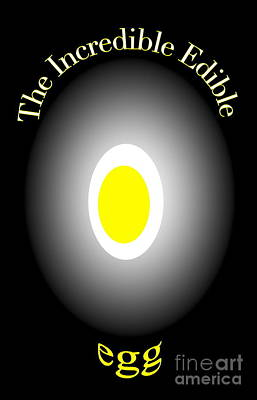 Poster featuring the digital art The Incredible Egg by Gayle Price Thomas