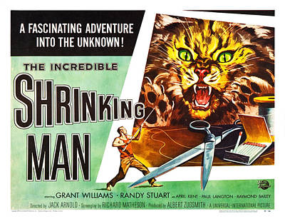 The Incredible Shrinking Man Poster Poster by Gianfranco Weiss