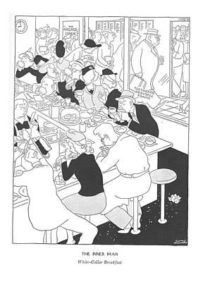 The Inner Man  White-collar Breakfast Poster