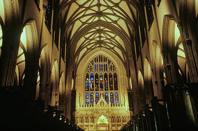 The Interior Of The Trinity Church Poster