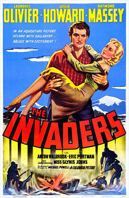 The Invaders Aka 49th Parallel, Us Poster by Everett