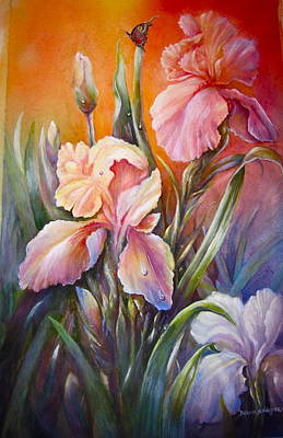 Poster featuring the painting The Iris Of  Spring  by Patricia Schneider Mitchell