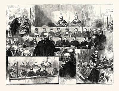 The Irish Land League Trials At Dublin 1 Poster by Irish School