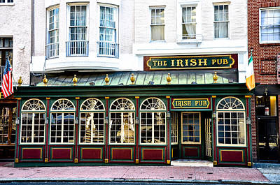 The Irish Pub - Philadelphia Poster by Bill Cannon