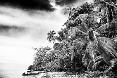 The Island In Black And White Poster by John Rizzuto