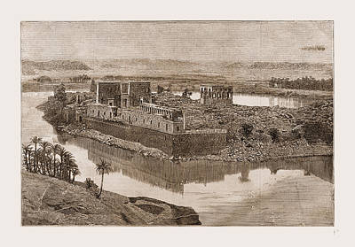 The Island Of Philae, The Nile, Egypt, 1880 Poster