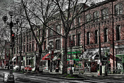 The J And M Hotel In Pioneer Square - Seattle Washington Poster by David Patterson