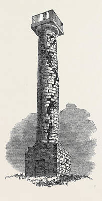 The Jessop Monument Codnor Park Derbyshire Struck Poster