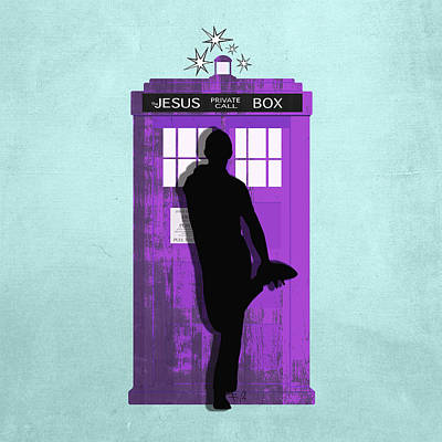 The Jesus Private Call Box Tardis Poster by Filippo B