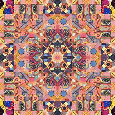 The Joy Of Design Mandala Series Puzzle 4 Arrangement 1 Poster by Helena Tiainen