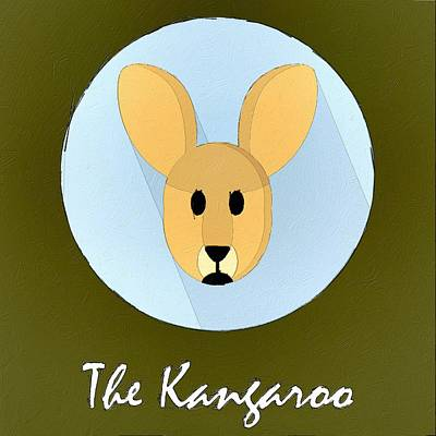 The Kangaroo Cute Portrait Poster by Florian Rodarte