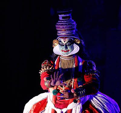 The Kathakali Dance Poster by Money Sharma