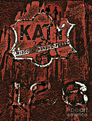 The K A T Y Railroad Sign Poster by R McLellan
