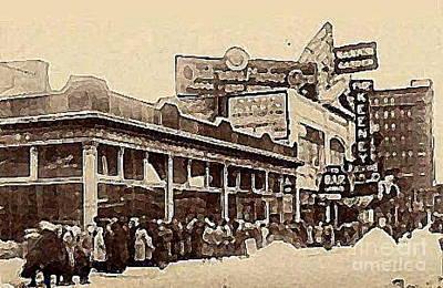 The Keeney Theatre In Newark N J In Winter 1914  Poster