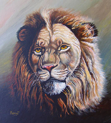 Poster featuring the painting The King by Anthony Mwangi
