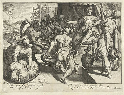 The King As The Strongest In The World, Print Maker Poster by Zacharias Dolendo And Karel Van Mander And Jacob De Gheyn Ii