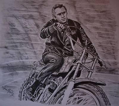 The King Of Cool Steve Mcqueen Poster by Juan Mendez