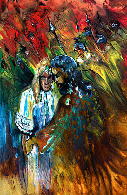 The Kiss Of Judas Poster by Miki De Goodaboom