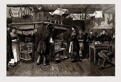 The Kitchen Of A Common Lodging House, Spitalfields Poster by Litz Collection