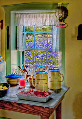 The Kitchen Window Poster by David and Carol Kelly