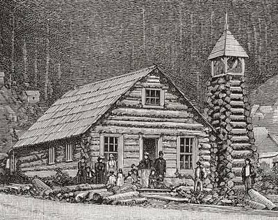 The Klondike Presbyterian Church At Juneau, Alaska Poster by American School