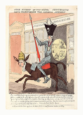 The Knight Of The Woeful Countenance Going To Extirpate Poster by English School