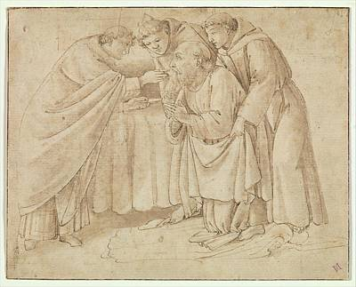 The Last Communion Of Saint Jerome Poster by Workshop of Botticelli