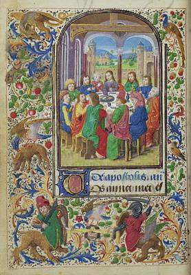 The Last Supper Lieven Van Lathem, Flemish, About 1430 - Poster
