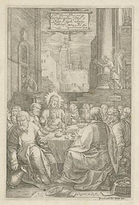 The Last Supper, Print Maker Hendrick Goltzius Poster